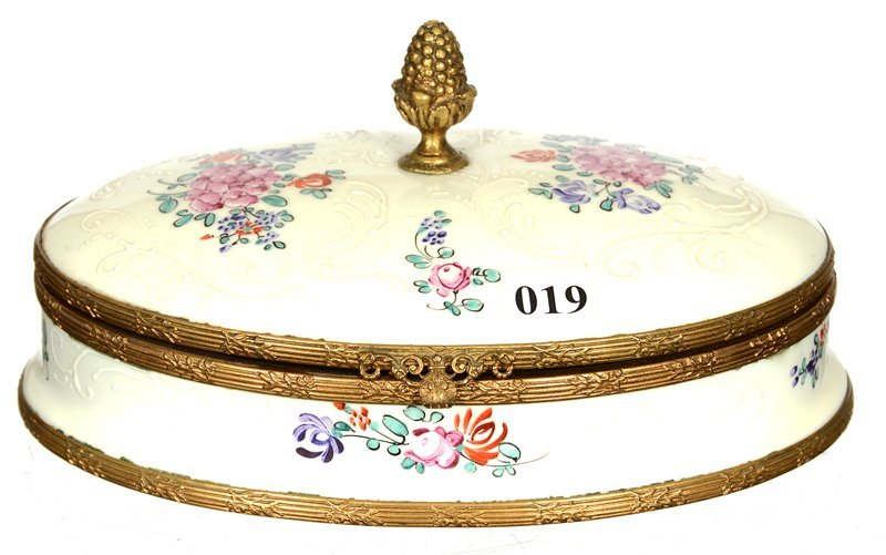 "4"" X 8"" FRENCH OVAL HINGED BOX"