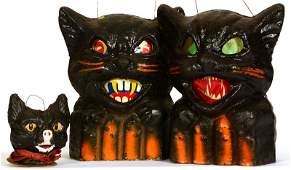 2 VINTAGE 7 12 AMERICAN PULP FIGURAL BLACK CAT