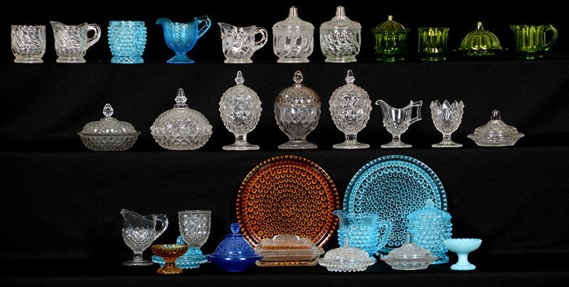 LARGE SELECTION OF CHILDREN'S PATTERN GLASS ITEMS