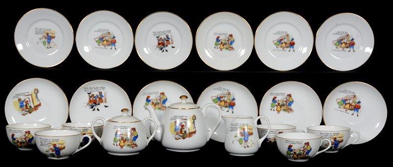 (21) PIECE NORITAKE CHILDREN'S TEA SET