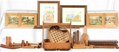 SELECTION OF VINTAGE WOODEN ITEMS