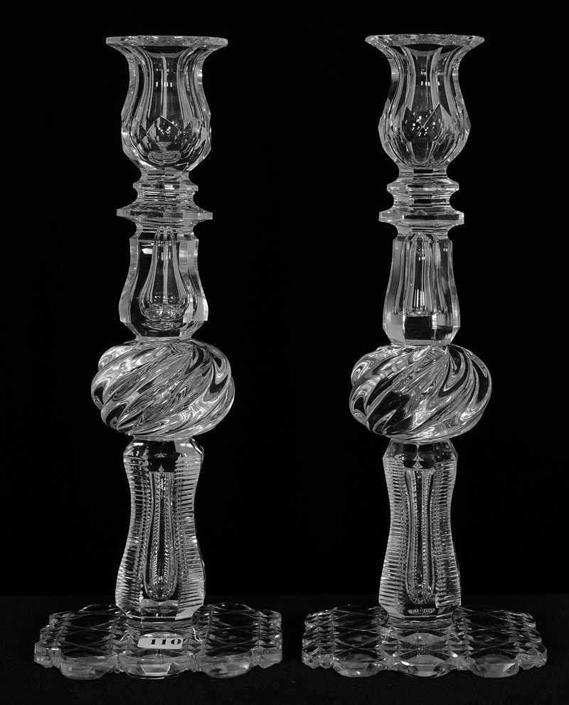 """PAIR CANDLE HOLDERS - 12 1/2"""" -"""