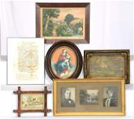 (6) ASSORTED FRAMED ITEMS