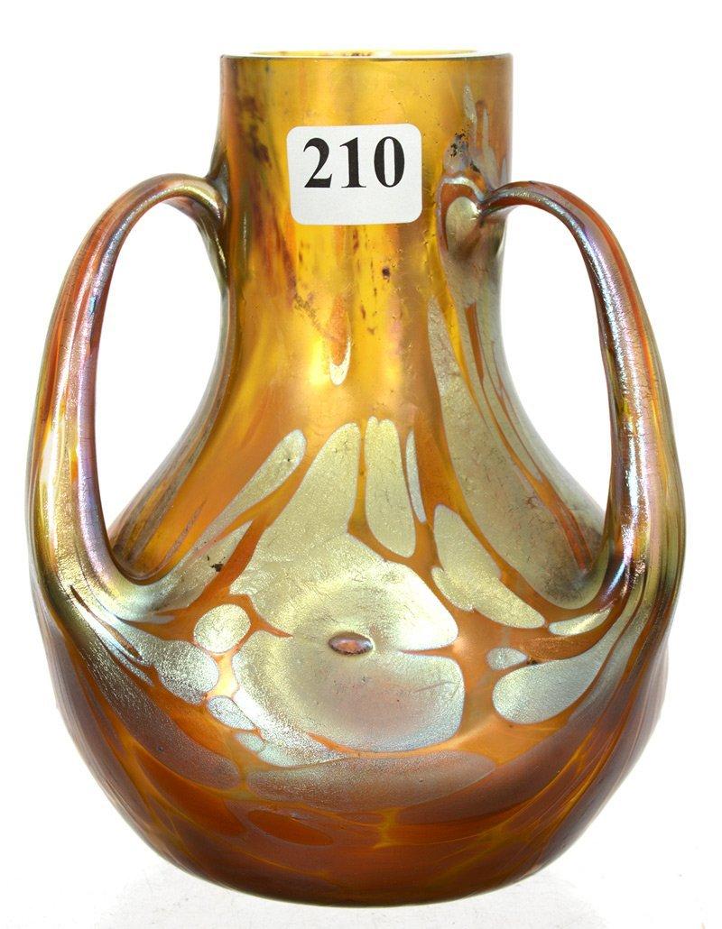 """5 1/2"""" X 4 1/2"""" SIGNED LOETZ AUSTRIA ART GLASS THREE"""