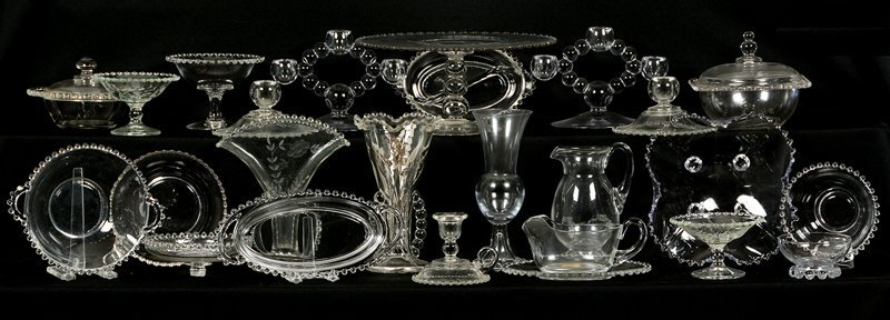 OVER (20) IMPERIAL CANDLEWICK GLASSWARE ITEMS