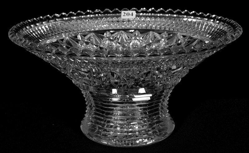 "6"" X 11 1/2"" SIGNED HAWKES AMERICAN BRILLIANT CUT GLASS"