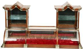 """38"""" X 72"""" X 27"""" DOUBLE STEEPLE CURVED GLASS COUNTER TOP"""