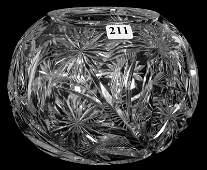 ROSE BOWL  5 14 X 7  ABCG  SIGNED LIBBEY