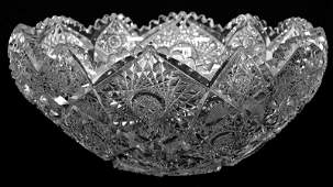 """ROLLED RIM ONE PIECE PUNCH BOWL - 6 1/4"""" X 14"""" - ABCG"""