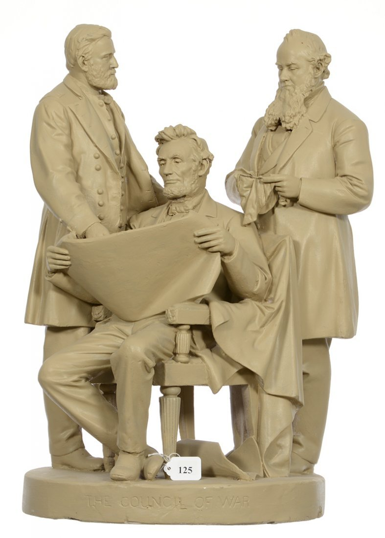 """JOHN ROGERS GROUP TITLED """"THE COUNCIL OF WAR"""" WITH"""
