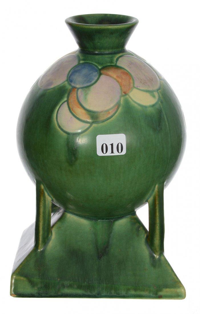 ROSEVILLE ART POTTERY BALL SHAPED VASE