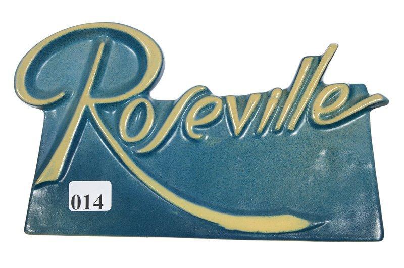 ROSEVILLE ART POTTERY ADVERTISING DISPLAY SIGN