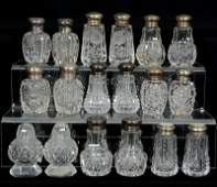 (9) PAIR ABCG SALT AND PEPPER SHAKERS