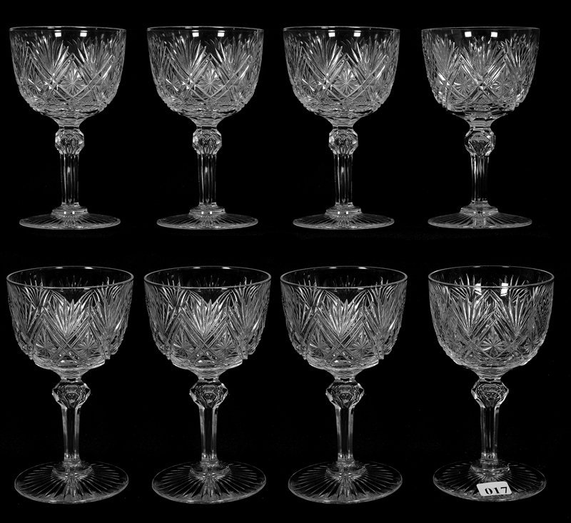 "(8) GOBLETS - 6"" - ABCG - PARISIAN VARIATION BY"