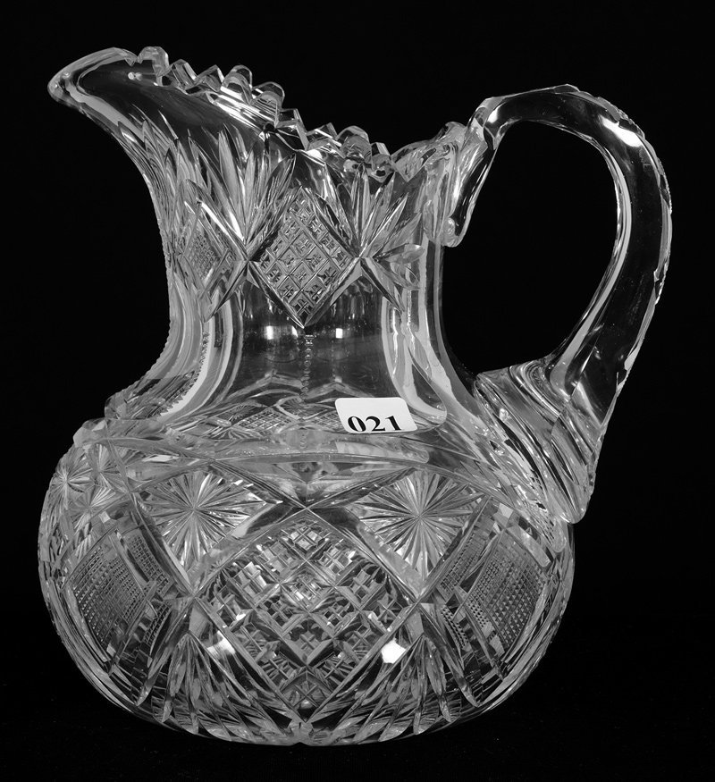 "PITCHER - 8"" - ABCG - HARVARD PATTERN BY LIBBEY WITH"