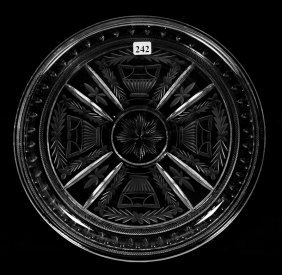 "Round Tray - 12"" - Abcg - Maltese Urn Pattern By Straus"