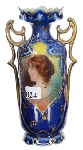 "7"" Royal Vienna Two-handled Vase"