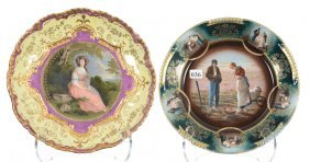 (2) German Plates