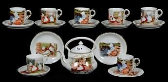 ROYAL BAYREUTH BLUE MARK CHILDS TEA SET