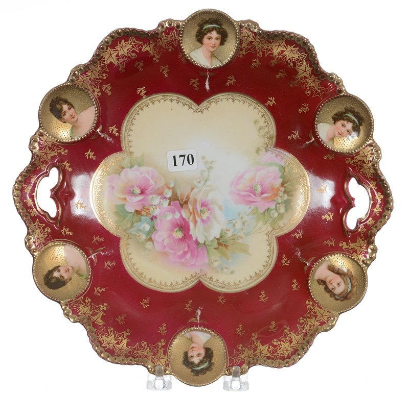 """11"""" RSP MEDALLION MOLD TWO-HANDLED CAKE PLATE"""