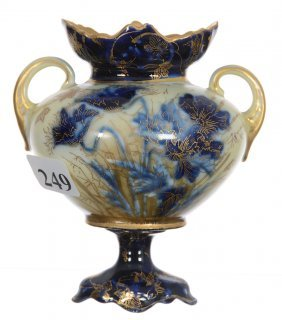 "4"" R.s. Steeple Two-handled Pedestal Miniature Vase"