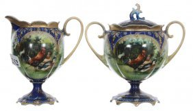 Wheelock Prussia Pedestal Creamer And Sugar
