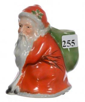 "4 1/4"" Royal Bayreuth (blue Mark) Red Santa Match"