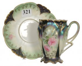 R.s.prussia Chocolate Cup And Saucer