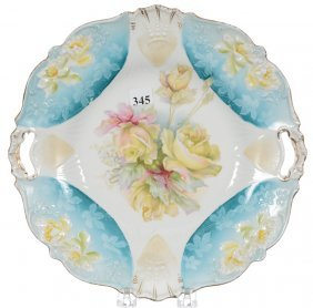 """11"""" Unmarked R.s.prussia Two-handled Cake Plate"""