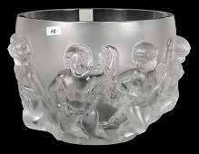 8 12 X 10 12 MARKED LALIQUE FRANCE LARGE DEEP