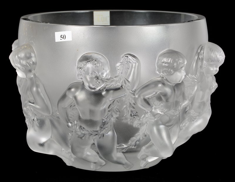 """8 1/2"""" X 10 1/2"""" MARKED """"LALIQUE FRANCE"""" LARGE DEEP"""