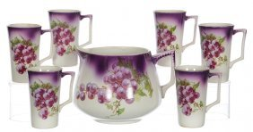 Dresden China Seven Piece Lemonade Set