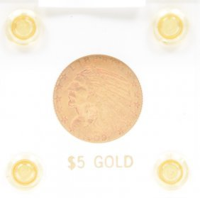 1909-d States Indian Head $5 Gold Coin