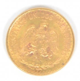 1945 Mexican Two Peso Gold Coin