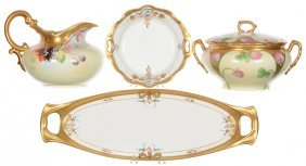 (4) Pickard Style Porcelain Items