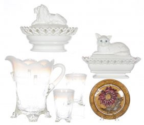 (4) Assorted Glass Items