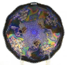 "4"" X 10"" Carnival Glass Three-footed Bowl"