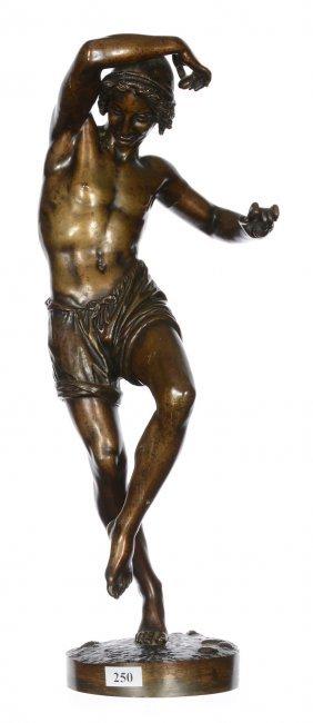 """17"""" French Bronze Figure After Francisque Joseph Duret"""