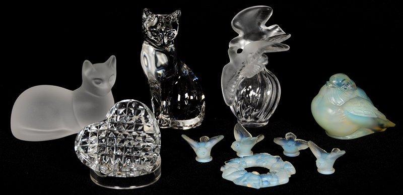 (10) ART GLASS ITEMS