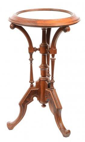 """29"""" X 17 1/2"""" Victorian Walnut Three Leg Fern Stand"""