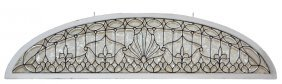Elaborate Three Piece Window Set With Leaded And