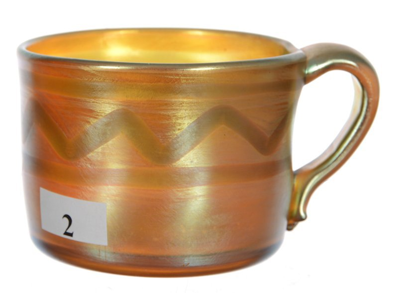 """2 1/2"""" X 4 1/4"""" Marked L.C.T. #D1065 Gold Iridescent"""
