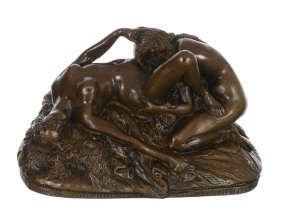 "Original! 3"" X 4 3/4"" X 2 1/2"" Vienna Erotic Bronze"