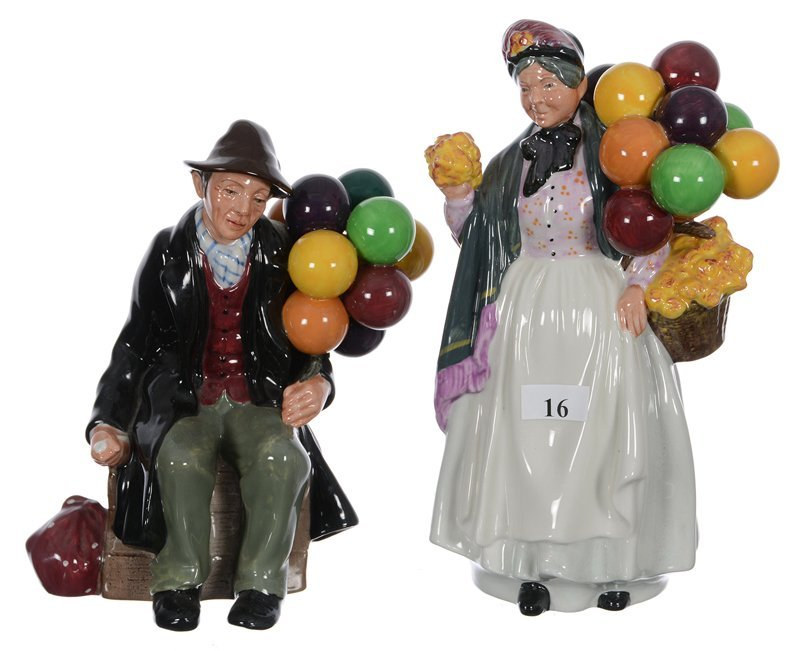 "(2) Royal Doulton Figurines - (1) 8 1/2"" Biddy Penny"