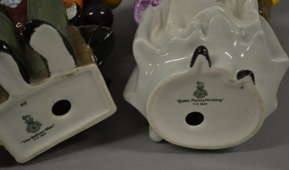 "(2) Royal Doulton Figurines - (1) 8 1/2"" Biddy Penny - 3"