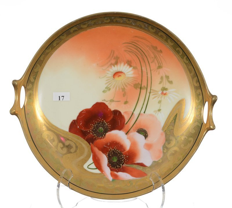 """12"""" Marked Pickard Two-Handled Cake Plate - Cream And"""