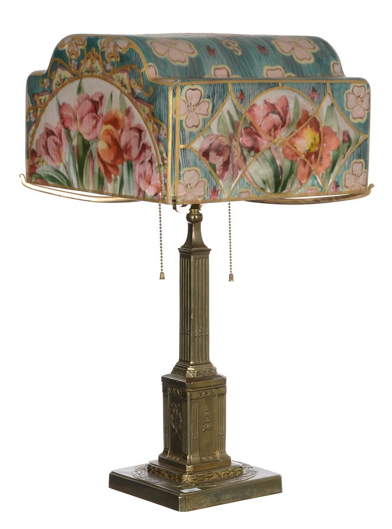 """Very Rare 24"""" X 13"""" Marked Pairpoint Puffy Table Lamp -"""