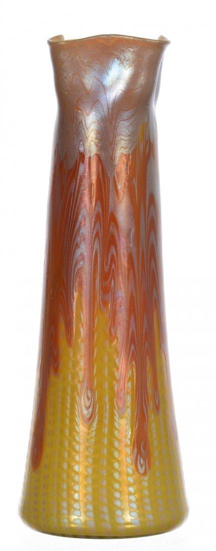 "11"" Signed Loetz Austria Phaenomen Art Glass"