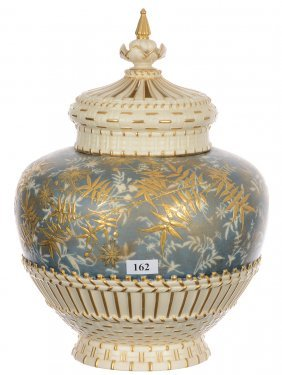 """11 1/2"""" X 8"""" Marked Royal Worcester #1286 Three Part"""