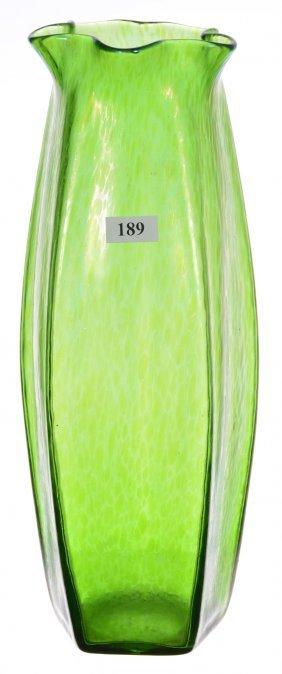 """12 1/2"""" Unmarked Loetz Five-sided Art Glass Vase -"""
